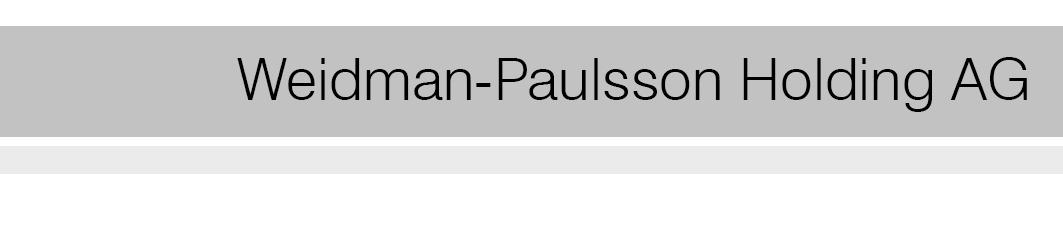 WEIDMANN-PAULSSON HOLDING